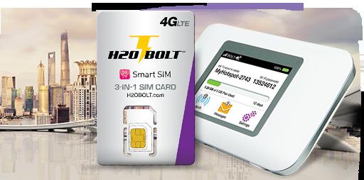H2O Wireless $50 BOLT 4G LTE 10GB Plan : 30 Days H2o Wireless Bolt